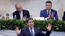 El presidente de Honduras y un grupo de eurodiputados hablan sobre seguridad