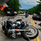 Hundreds of bikers bid goodbye to 7 motorcyclists killed in New Hampshire crash involving pickup truck