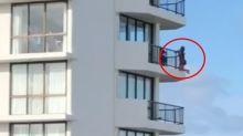 Woman slammed over 'foolish' high-rise balcony stunt