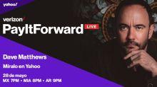 Disfruta aquí el segundo concierto en VIVO de Dave Matthews, para 'Pay It Forward Live' de Verizon