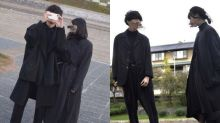 這對日本 All Black 情侶,他們的黑色時尚品味合拍得令人羨慕!