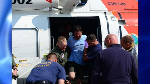 Lobsterman recovering after being saved at sea