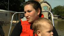 Raw: Baby and Mom Rescued From Texas Floods