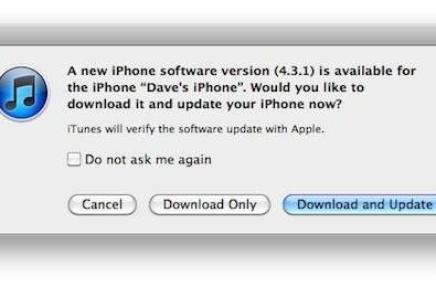 iOS 4.3.1 released, fixes a few bugs