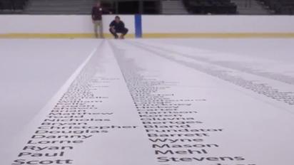 Vegas print season-ticket names on ice