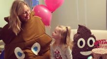 Three-year-old girl requests poo-themed party so her parents throw her one