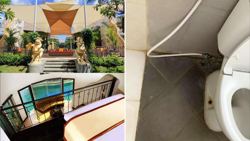 Couple furious after luxury Bali villa turns out to be 'absolutely disgusting'