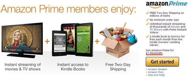 Amazon Prime flaunts a monthly price tag, now offers streaming and two day shipping for $7.99 per month