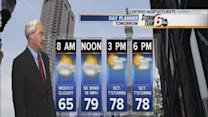 Warm temps, possible storms Friday