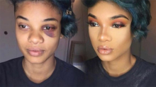 Woman's makeup transformation sheds light on mental illness