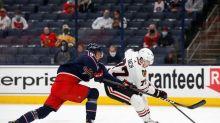 DeBrincat, Blackhawks rally to beat Blue Jackets 4-3