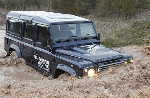 Land Rover EV prototypes tread lightly uphill, recharge on the way down