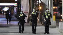 Melbourne's first night under virus curfew