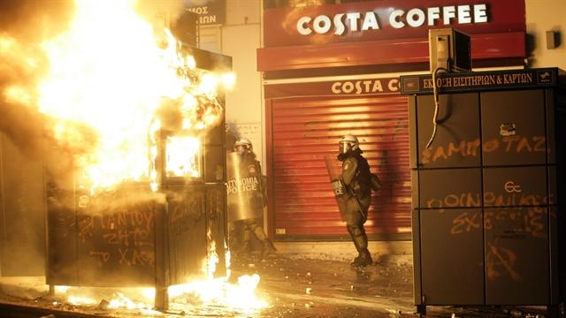 Riots erupt in Greece