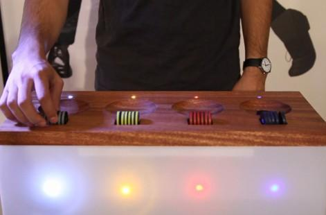 Beat Box table turns RFID tagging into beautiful music