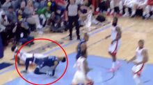 'Please chill': NBA rookie's 'insane' dunk attempt nearly ends in disaster