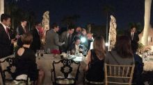 Photos from Mar-a-Lago guest reportedly show Trump responding to North Korea launch
