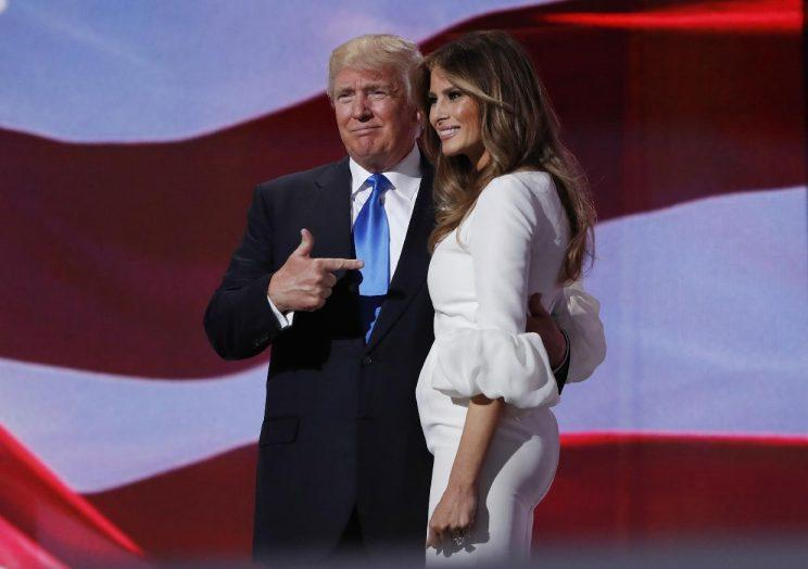 Image result for mR trUMP & 1ST lADY