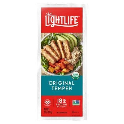 "<p><strong>Lightlife</strong></p><p>target.com</p><p><strong>$3.49</strong></p><p><a href=""https://www.target.com/p/lightlife-tempeh-original-8oz/-/A-23985524"" rel=""nofollow noopener"" target=""_blank"" data-ylk=""slk:Shop Now"" class=""link rapid-noclick-resp"">Shop Now</a></p><p>Like tofu, tempeh is a product made from soybeans; however, the soybeans in tempeh are fermented, and various grains and beans are also incorporated for a heartier texture and flavor. You can prepare in a multitude of ways, including <a href=""https://www.goodhousekeeping.com/food-recipes/g413/great-grilling-recipes/"" rel=""nofollow noopener"" target=""_blank"" data-ylk=""slk:grilling it in a similar fashion to meat"" class=""link rapid-noclick-resp"">grilling it in a similar fashion to meat</a>, plus frying, baking, or sautéing it. </p><p>The flavor is much more divisive than that of tofu as it has a subtle tanginess (from the fermentation), a tougher texture, and a nutty aftertaste. It's not for everyone, but if it is for you, try it out in <a href=""https://www.goodhousekeeping.com/food-recipes/healthy/a47227/easy-tempeh-lettuce-wraps-recipe/"" rel=""nofollow noopener"" target=""_blank"" data-ylk=""slk:lettuce wraps"" class=""link rapid-noclick-resp"">lettuce wraps</a> or <a href=""https://www.goodhousekeeping.com/food-recipes/healthy/a47216/easy-roasted-veggies-and-tempeh-bowl-recipe/"" rel=""nofollow noopener"" target=""_blank"" data-ylk=""slk:grain bowls"" class=""link rapid-noclick-resp"">grain bowls</a>.</p>"