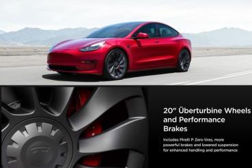 新版 Model 3 Performance 升級 20 吋新輪圈,但全球有「這三國」例外!