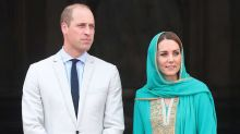 Prince William and Kate Middleton's plane has 'two aborted landings' during electrical storm in Pakistan