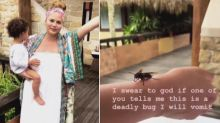'Bug' on Chrissy Teigen's Arm Turns Out to Be Dangerous Tarantula Hawk Wasp