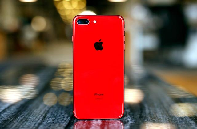Ogling Apple's Product RED iPhone 8 Plus