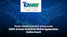 Tower Semiconductor Announces 2020 Annual Technical Global Symposium Online Event