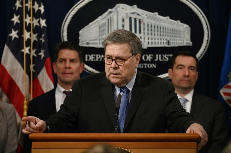 "US Attorney General Bill Barr said 21 Saudi air force officers training in the United States would be sent home in the wake of the ""terrorist"" shooting on December 6 in Florida by one of their colleagues (AFP Photo/ANDREW CABALLERO-REYNOLDS)"