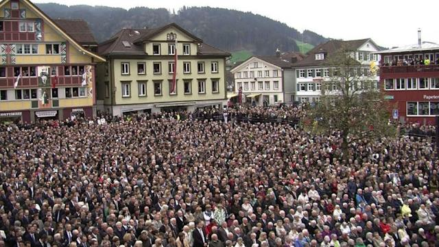 Open-air democracy takes place in Swiss canton