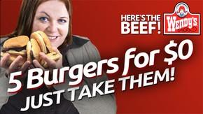 Shady New Wendy's Deal Offering Five Hamburgers For Free, No Questions Asked