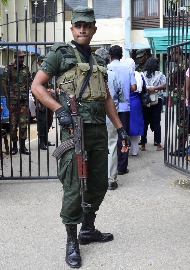 Security remains high in Sri Lanka in the aftermath of the April 21 attacks that killed more than 250 people (AFP Photo/LAKRUWAN WANNIARACHCHI)