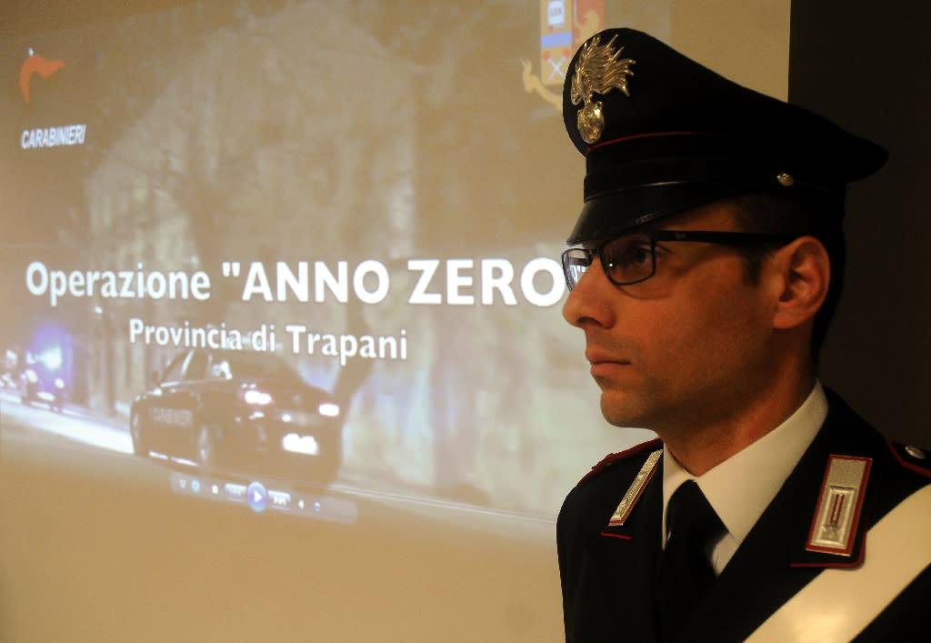 "Twenty-one people were arrested near the Sicilian city of Trapani as part of ""Anno Zero"" (Year Zero) police investigation (AFP Photo/ALESSANDRO FUCARINI)"