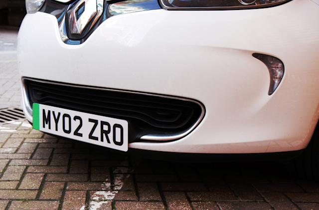 UK EVs will get special 'green' licence plates later this year