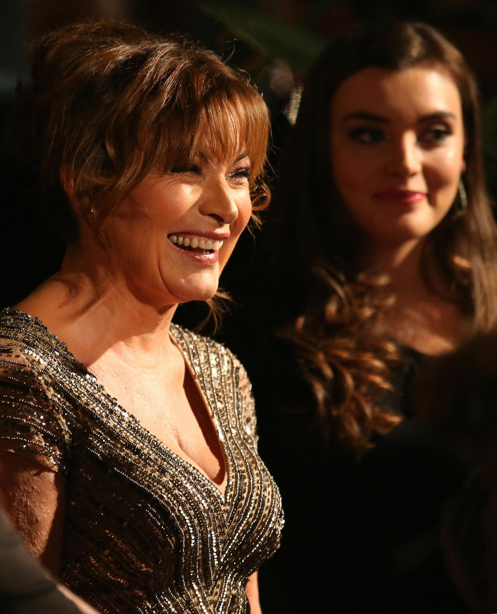 Lorraine Kelly and daughter Rosie arrive for the British Academy Scotland Awards held at the Radisson Hotel in Glasgow.