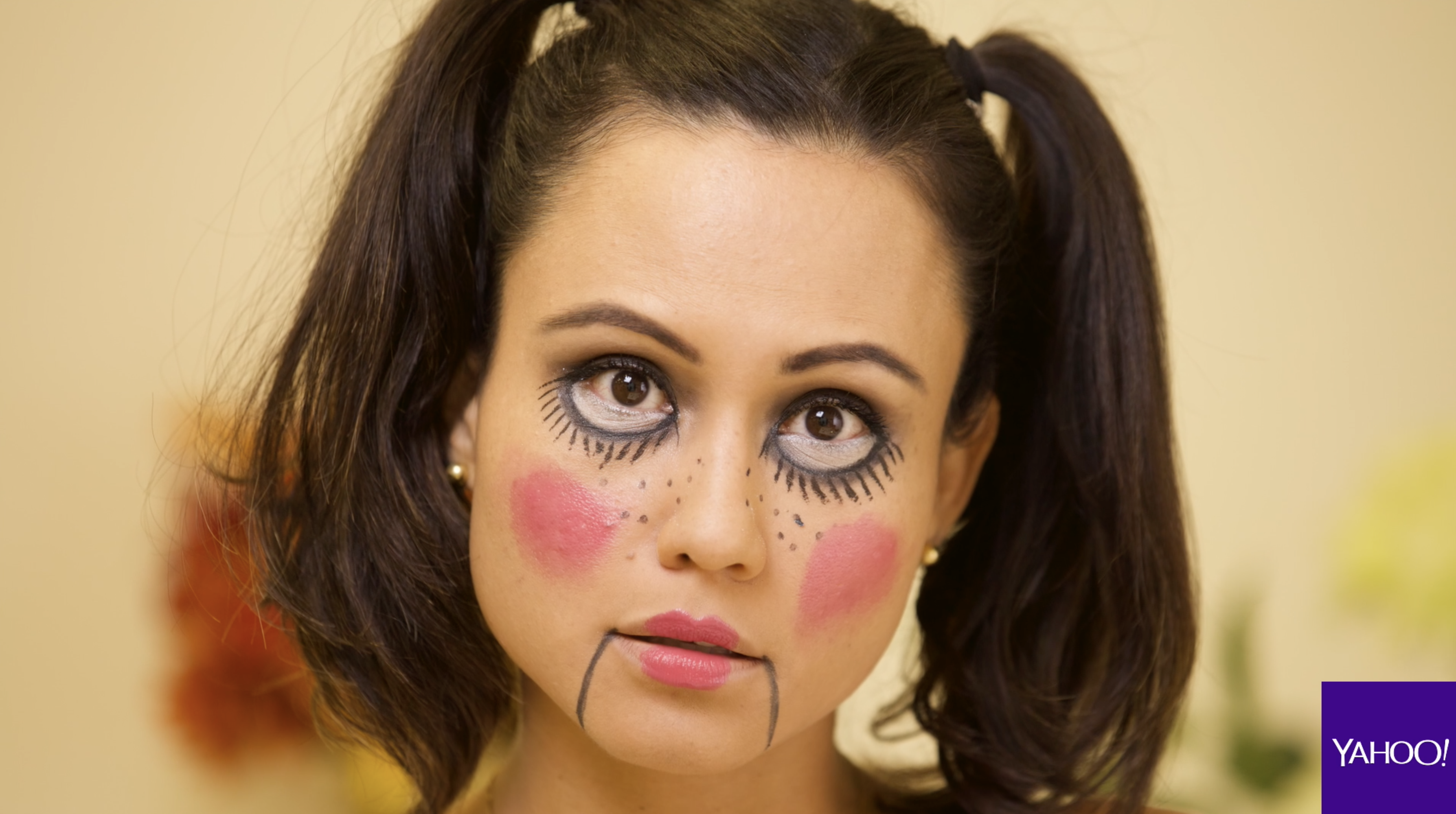 DIY Maquillaje para Halloween Mueca diablica Video