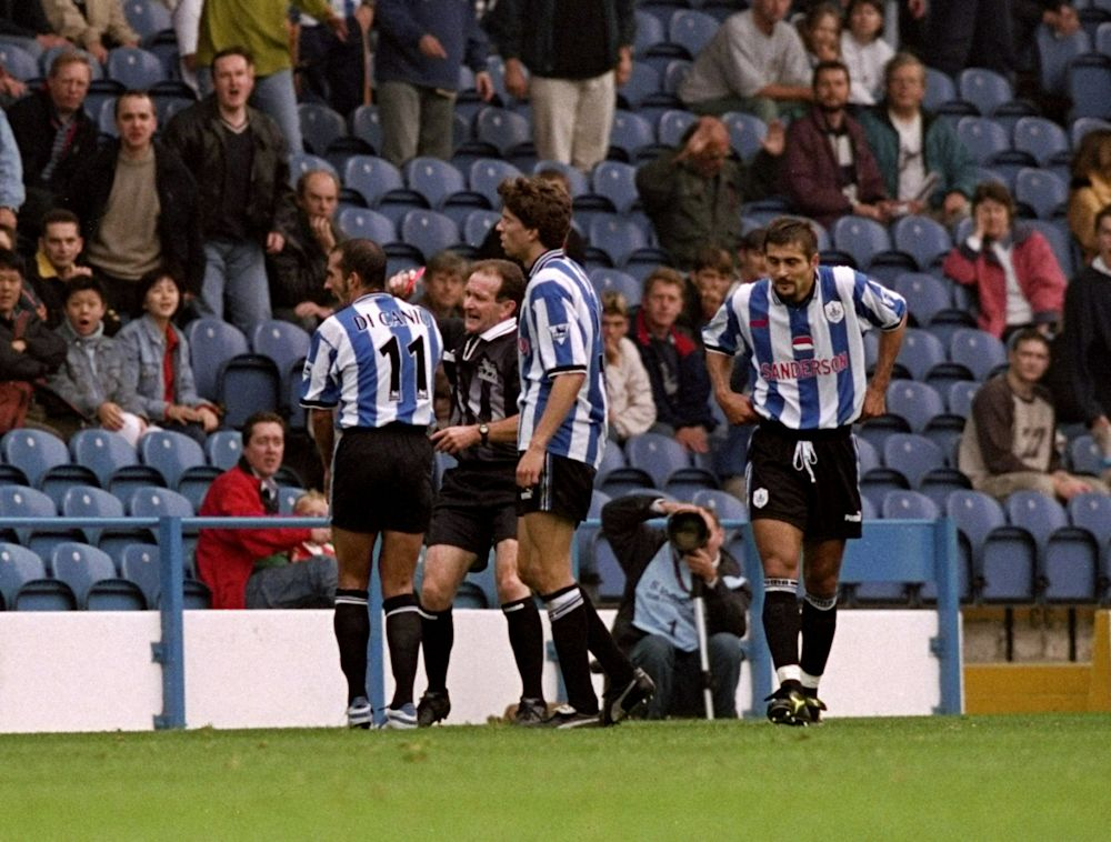 Paolo di Canio shoved the referee over