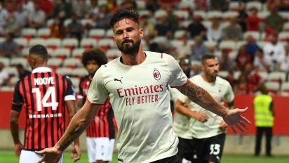 Giroud entra e segna, Nizza-Milan 1-1. La Juve fa 2-1 col Monza: in gol anche Kulusevski