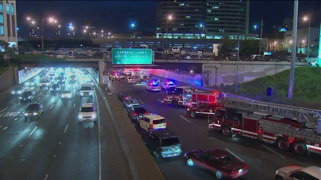Major accident snarls traffic on the Kennedy