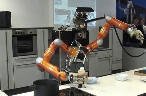 Robots make breakfast for scientists, bide time (video)