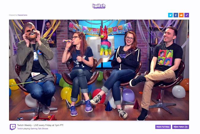 Twitch Clips share your favorite stream moments