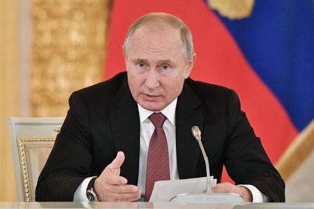 Russian President Putin chairs a meeting of the Science and Education Council in Moscow