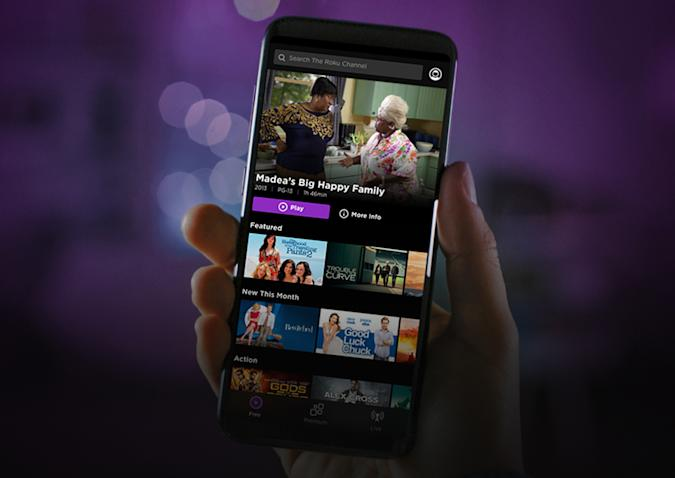 The Roku Channel app for Android and iOS