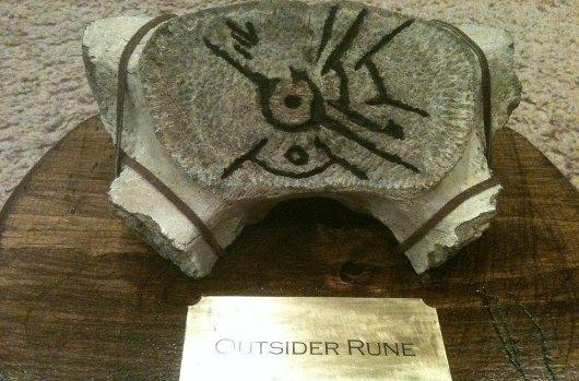 This homemade Dishonored whalebone rune is cool, a little creepy