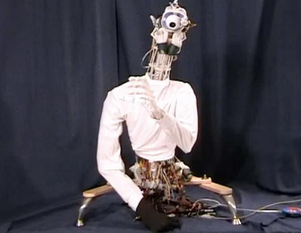 ECCEROBOT emulates your musculoskeletal system, looks like Beaker from the Muppets