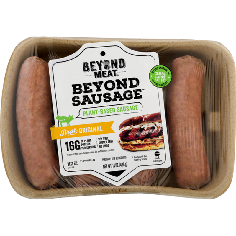 "<p><strong>Beyond Meat</strong></p><p>instacart.com</p><p><strong>$9.99</strong></p><p><a href=""https://go.redirectingat.com?id=74968X1596630&url=https%3A%2F%2Fwww.instacart.com%2Fproducts%2F18432354-beyond-meat-beyond-sausage-brat-originial-14-oz&sref=https%3A%2F%2Fwww.goodhousekeeping.com%2Ffood-recipes%2Fg32733789%2Fbest-meat-substitutes%2F"" rel=""nofollow noopener"" target=""_blank"" data-ylk=""slk:Order Now"" class=""link rapid-noclick-resp"">Order Now</a></p><p>This store-bought product is typically made up of a combination of beans, grains, vegetables, and spices, making them a great dinner option when you're in a time crunch. Serve them <a href=""https://www.goodhousekeeping.com/health/diet-nutrition/a20706575/healthy-whole-grains/"" rel=""nofollow noopener"" target=""_blank"" data-ylk=""slk:over a bed of your favorite grain"" class=""link rapid-noclick-resp"">over a bed of your favorite grain</a>, in soups, or wrapped in a bun and topped with sauerkraut. Beyond Sausage will make you question why you ever needed to eat real sausage in the first place; it's made with pea protein and contains less sodium per serving than other leading brands. Be sure to scan the labels of pre-made products like sausages for hidden nutritional bombs, like saturated fat counts <a href=""https://www.goodhousekeeping.com/health/diet-nutrition/a27047618/daily-sodium-intake/"" rel=""nofollow noopener"" target=""_blank"" data-ylk=""slk:and added sodium"" class=""link rapid-noclick-resp"">and added sodium</a>. </p>"
