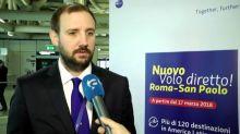 Latam sbarca a Fiumicino e inaugura il volo Roma-San Paolo