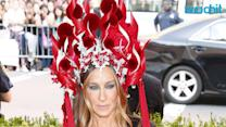 Sarah Jessica Parker Sports Another Amazing Headdress to the 2015 Met Gala--Wait Until You See This One!