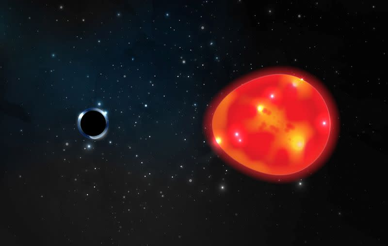 A black hole dubbed 'the Unicorn' may be galaxy's smallest one – Yahoo News