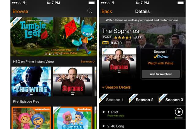 Amazon Instant Video app now offers free, ad-supported TV episodes, new HBO shows